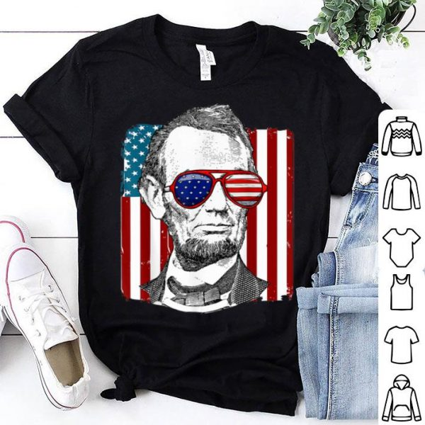 America Usa Abe Lincoln 4th Of July Gift Tee Shirt