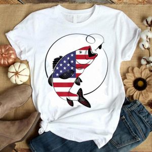 American Flag Fishing Vintage 4th July Usa Gifts Shirt