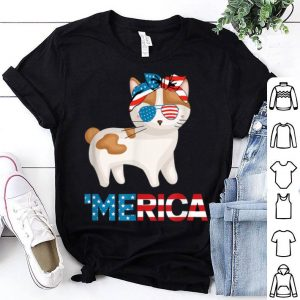 American Flag Japanese Bobtail Cat 4th Of July Cat shirt