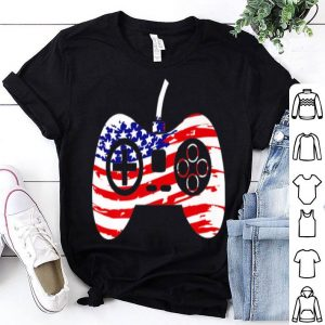 American Flag Video Game Controller Patriotic 4th of July shirt