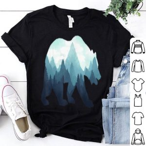 Bear Double Exposure Surreal Wildlife Animal shirt