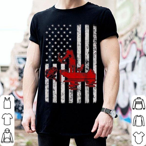 Bow Fishing American Flag shirt