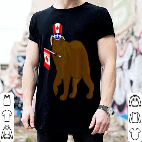 Canada - Maple Leaf Bear Canadian Flags Shirt