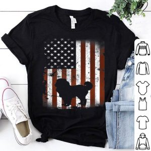 Caucasian Shepherd American Flag Dog 4th Of July Shirt