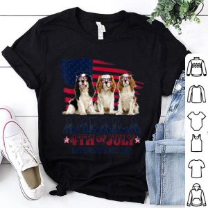 Cavalier Charles Spaniel America Flag 4th Of July shirt