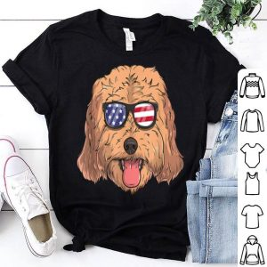 Cockapoo Dog Patriotic USA 4th of July American shirt