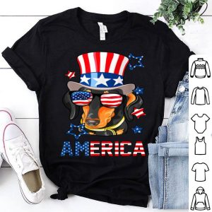 Dachshund America Dog Doxie 4th of July shirt