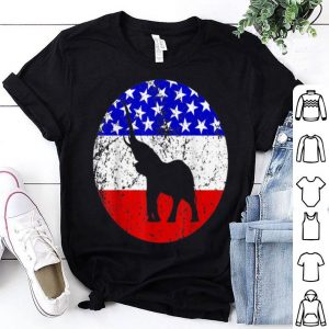 Elephant Retro Style Animal American Flag shirt