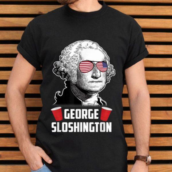 George Sloshington Aviator American Flag 4th Of July Shirt