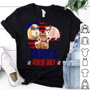 Hamster Patriotic American America 4th Of July shirt
