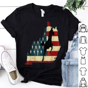 Kentucky Horse Racing Derby Vintage American Flag shirt