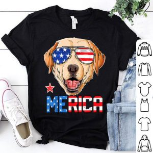 Labrador 4th Of July Merica Usa American Flag Shirt