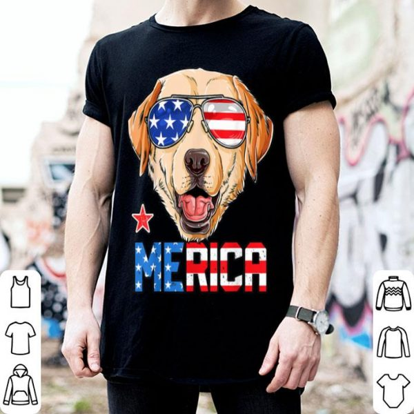 Labrador 4th Of July Merica Usa American Flag Shirt