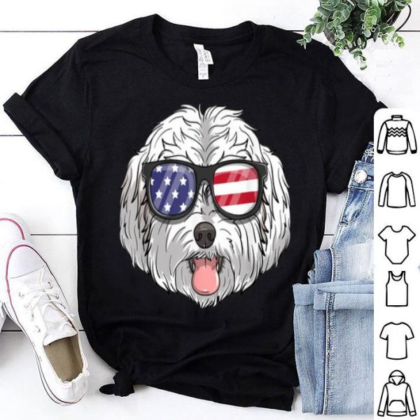Maltipoo Dog Patriotic USA 4th Of July American Shirt