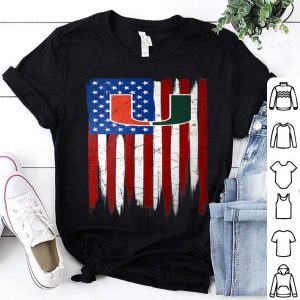 Miami Hurricanes Grunge American Flag shirt