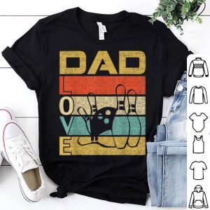 Retro Vintage Dad Love Bowling Fathers Day shirt