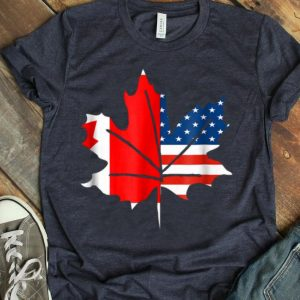 Sorry Canada Maple Leaf With American Flag shirt