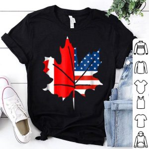 Sorry Canada Maple Leaf With American Flags Shirt
