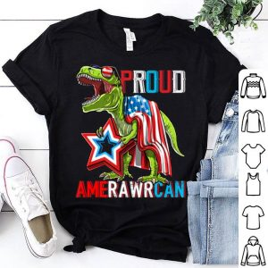 T Rex Dinosaur 4th of July Patriotic American Flag Star shirt