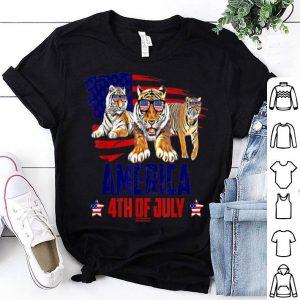 Tiger Patriotic American America 4th Of July shirt