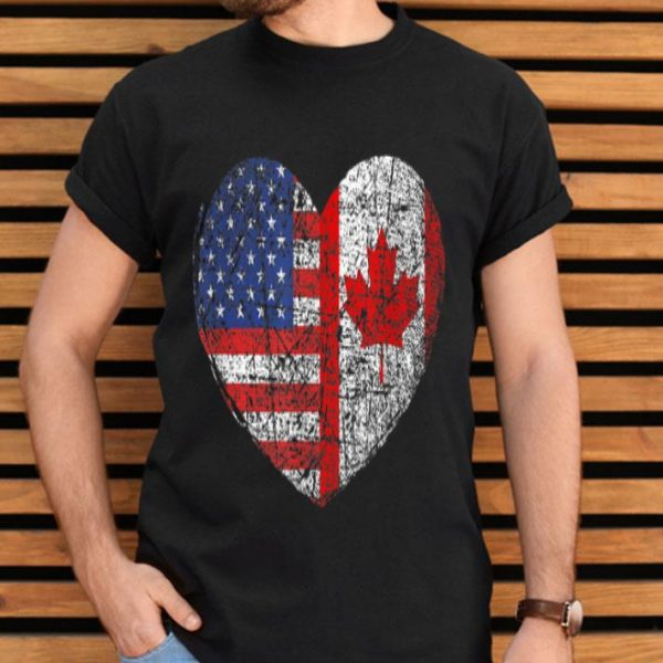 USA Canada Heart - Dual Citizenship shirt
