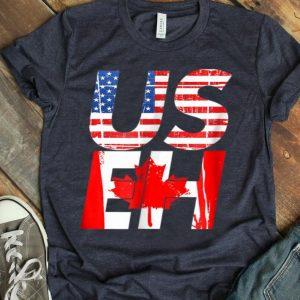 Us Eh Canada Flag Us Flag Canadian American Mcma shirt