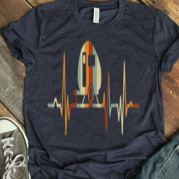 Vintage Camper Heartbeat-funny Happy Camper shirt