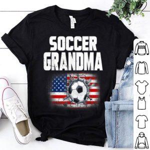 Vintage USA American Flag Soccer Grandma 2019 shirt