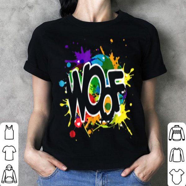 Woof LGBT Art Gay Pride Pup Play Gift Tee Shirt