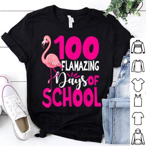 100 Flamazing Days Of School Flamingo shirt