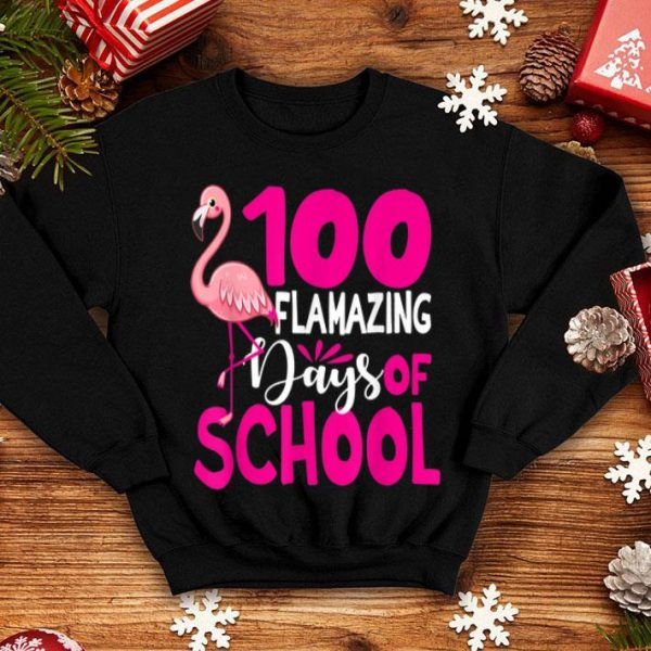 100 Flamazing Days Of School Flamingo shirt