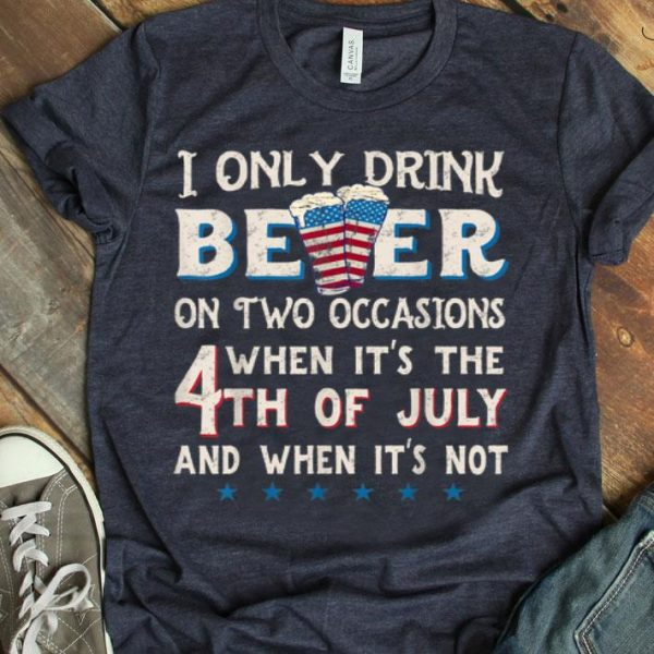 4th Of July Beer Party With American Flag shirt