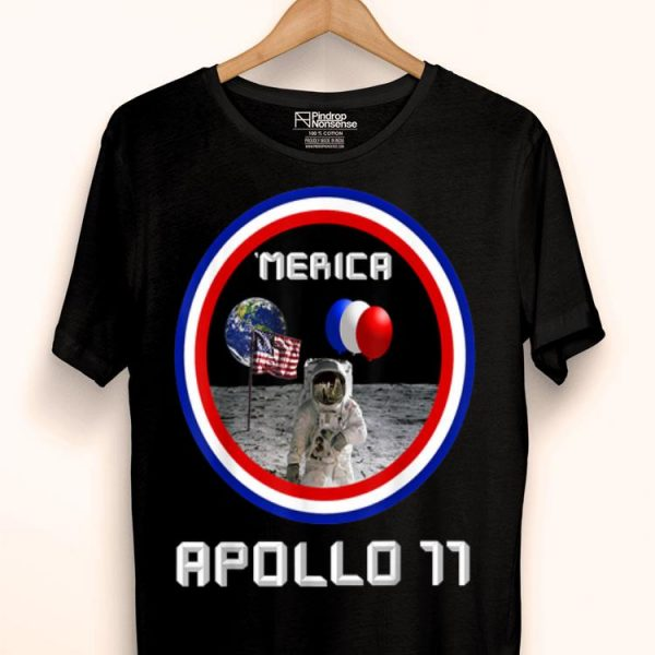 4th of july Apollo Moon Landing Anniversary Patriot shirt