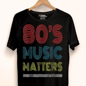 80s Music Lover Rocks. Vintage 80s Style Retro Colors shirt