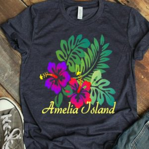 Amelia Island Beach Tropical Flower Surf Vacay Premium shirt