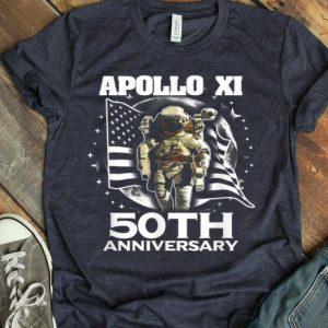 Apollo 11 50th Anniversary Space Lunar American Flag shirt