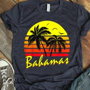 Bahamas 80S Summer Beach Palm Tree Sunset shirt