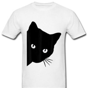 Black Cat Face Watching Cat For Cat Lover shirt