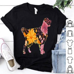 Floral Flower Vintage Retro Golden Retriever Lover shirt