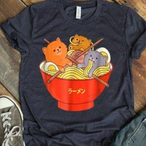 Kawaii Anime Cat Japanese Ramen Noodles shirt