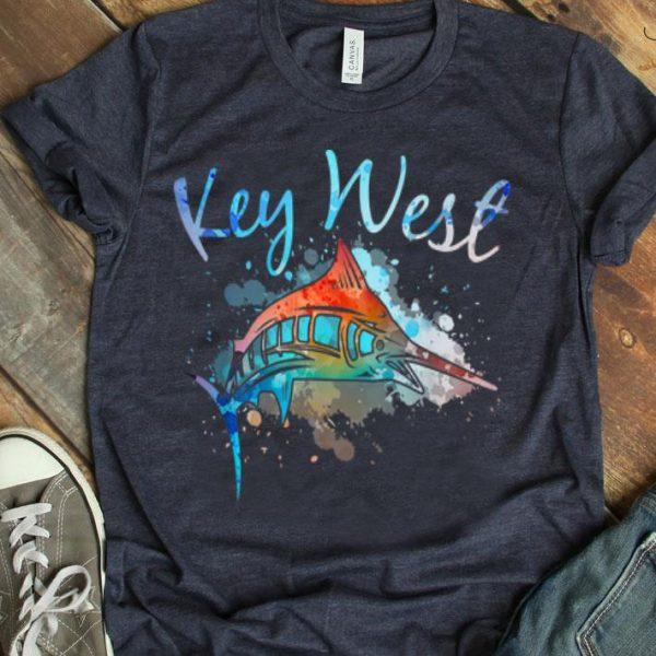 Key West Sport Fishing Vacation Souvenir Sailfish Marlin shirt
