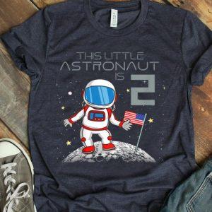 Kids 2nd Birthday Astronaut One Step Boys 2 Year Old Space Geek shirt