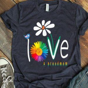 Love Gay Pride Proudmom Lgbt Gay Art Flower shirt