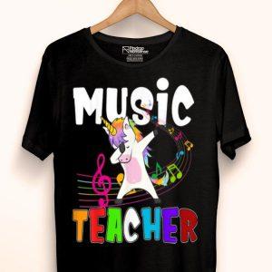 Music Lover Teacher Unicorn Dabbing Music Lover Teacher shirt