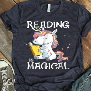 Reading Is Magical Book Lover Unicorn Promote shirt