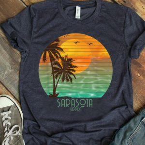 Sarasota Florida Sunset Beach Palm Tree Summer shirt