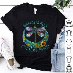 Stay Wild Moon Child Dragonfly Graphic Hippie shirt