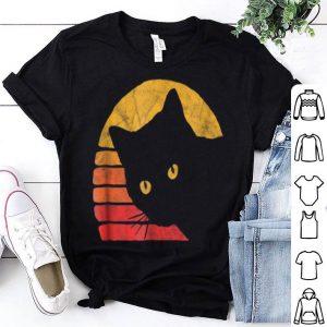 Vintage Eighties Style Cat Retro Distressed Design shirt