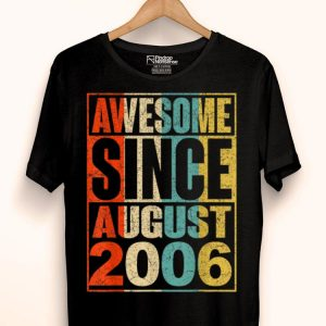 13 Years Old Vintage Awesome Since August 2006 shirt
