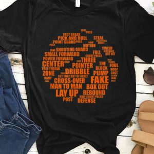 Awesome Basketball Terms Motivational Word Cloud shirt